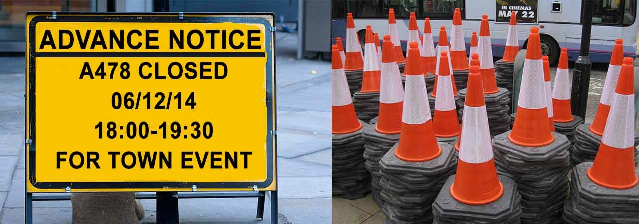 Event Traffic Management Signs - Pembrokeshire