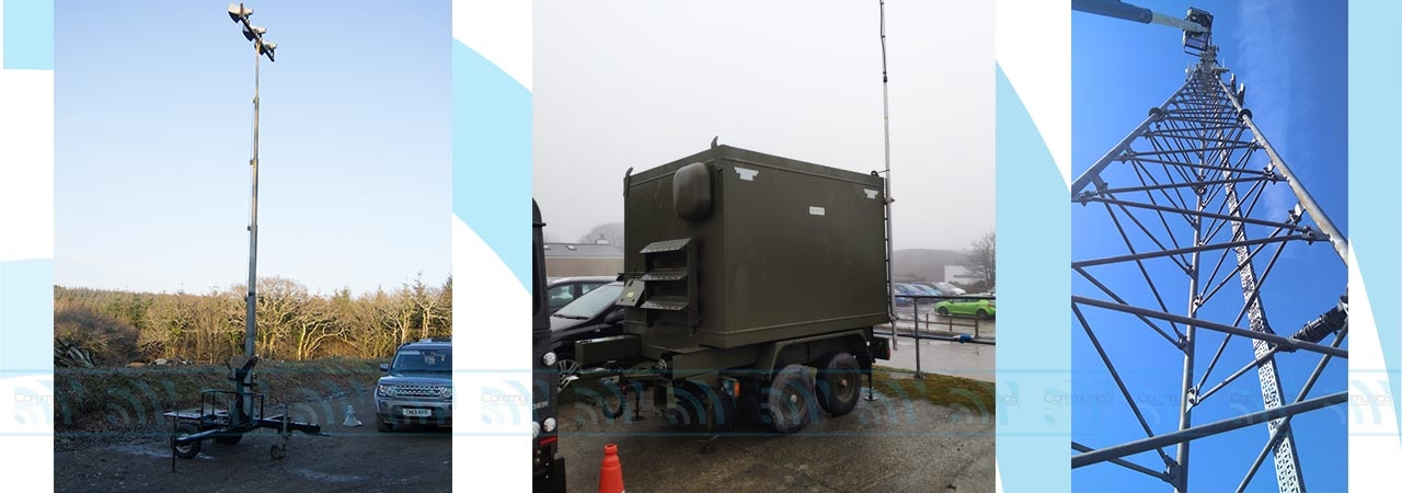 Mobile Trailer Mast Hire for Temporary Communications and Emergency Planning in Wales and the UK