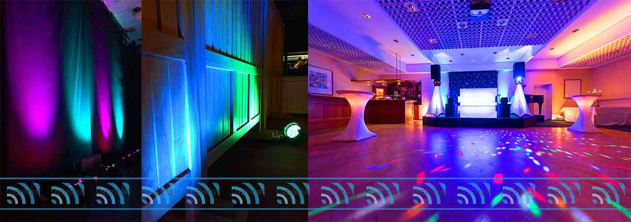 LED Lighting Hire - Uplighters for Events in Pembrokeshire, Carmarthenshire and Ceredigion
