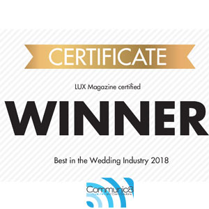 2018 Lux Industry Wedding Award WINNERS