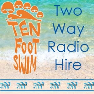 TenFoot Swim Logo - 2 Way Radio Hire from Communic8