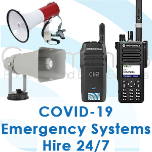 Loudspeaker Hire, Vehicle Mounted speaker systems, emergency walkie talkies for COVID-19 agencies