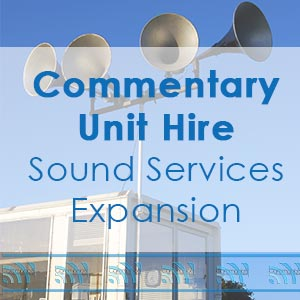Commentary Unit Hire for Outdoor Events in South West Wales