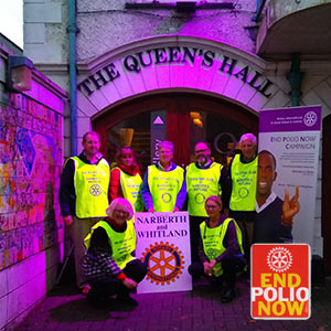 Rotary Club Purple4Polio Lighting Hire Project