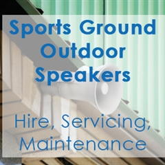 Sports Ground Outdoor Speaker Maintenance and Installation Company in South Wales - Communic8