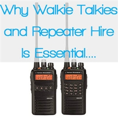 Walkie Talkie and Repeater Hire for Events = 2 Vertex Standard Radios